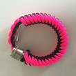 Neon Pink and Black 550 Paracord Stealthy Secret Pipe Bracelet w/ FREE SHIPPING