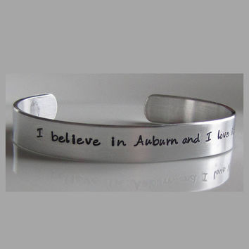 I believe in Auburn and love it!  Handcrafted Bracelet