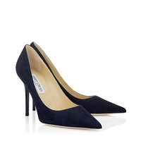 Navy Suede Pointy Toe Pumps | Abel | 24/7 Collection | JIMMY CHOO Shoes