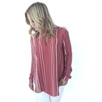 Worth The Wait Stripe Blouse