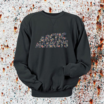 Arctic Monkeys flower Sweater Black, Blue, Gray, Orange, Red, and Yellow Sweatshirt Crewneck Men or Women Unisex Size