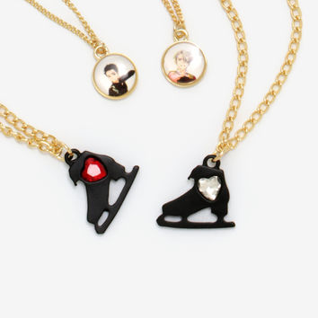 Yuri!!! On Ice Best Friend Necklace Set