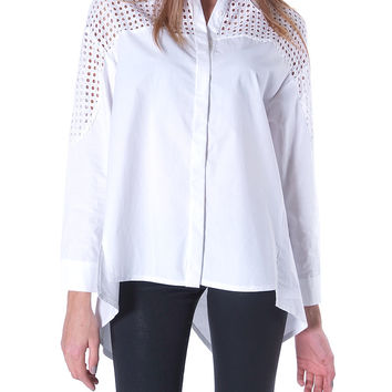 Taking The Time Shirt Top - White