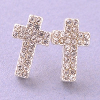 Cross My Heart Earrings - GOLD