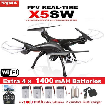 SYMA X5SW X5SW-1 FPV Drone X5C Upgrade WiFi Camera Real Time Video RC Quadcopter 2.4G 6-Axis Quadrocopter With 5 Battery