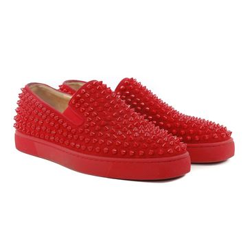 Louboutin Red Spiked Sneakers
