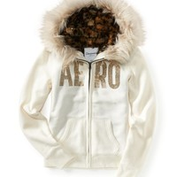 Aero Animal Print Full-Zip Hoodie