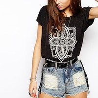 Lira Oversized T-Shirt With Henna Print