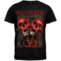 Black Veil Brides - Double Skull Soft T-Shirt