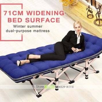 Multi-angle Adjustable Folding Bed with Pillow and Heavy Duty Metal Tubing