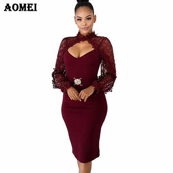 Women Bodycon Dress Patchwork Sequined Hollow Out Chest Evening Party Sexy Dinner Clubwear Ladies Slim Tunic Tight Spring Robes