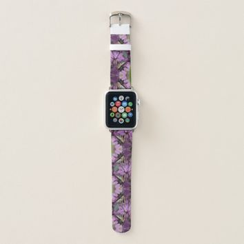Yellow swallowtail butterfly on rhododendron apple watch band
