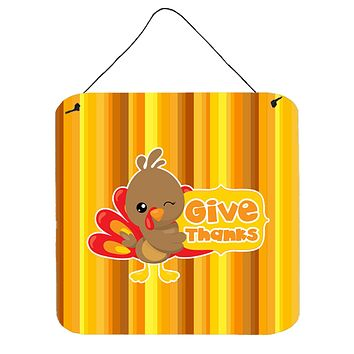 Thanksgiving Turkey Give Thanks Wall or Door Hanging Prints BB7115DS66