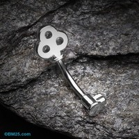 Dainty Princess Key Belly Button Ring
