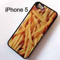 Amazon.com: BLACK Snap On Hard Case IPHONE 5 Plastic Skin Cover French Fries food hamburger bacon potato: Cell Phones & Accessories