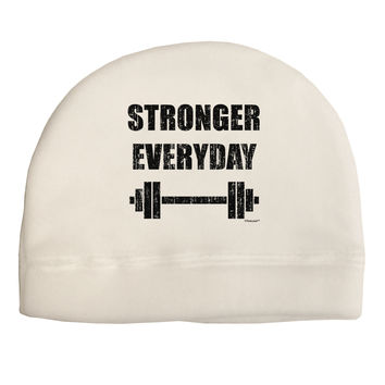 Stronger Everyday Gym Workout Child Fleece Beanie Cap Hat