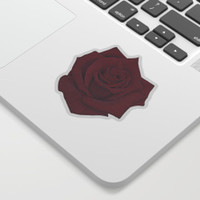 Red Rose Sticker by drawingsbylam
