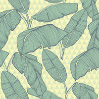 Seamless Palm Leaves Removable Wallpaper