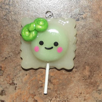 Polymer Clay Kawaii Sour Apple Wrapped by CreativityByCarol