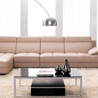Furniture living room leather Sofa Top Grain Leather L Shaped Corner Sectional Sofa Set for Living Room Free Shipping L9080-1