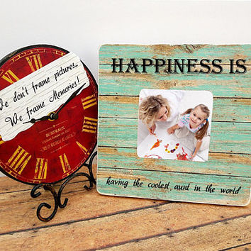 Aunt photo frame, aunt picture frame, gift for aunt, Christmas gift for aunt