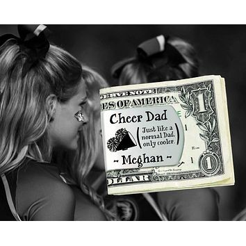 Cheer Dad Personalized Money Clip