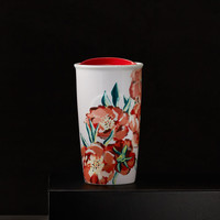 Floral Double Wall Traveler, 10 fl oz