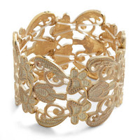Couldn't Filigree More Bracelet in Ivory | Mod Retro Vintage Bracelets | ModCloth.com