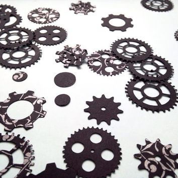 Steampunk Confetti Gears Table Confetti Party Decorations Goth Party Punk Decorations