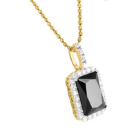 Black Onyx Ruby Gemstone 925 Silver  Birdman Yellow Gold Finish Pendant Moon Necklace