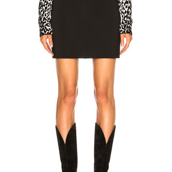 Givenchy Knit Seamed Mini Skirt in Black | FWRD