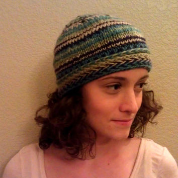 Striped Knit Hat, Women and Teen Accessory