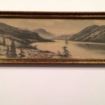 Antique Print, Picture-When Morning Wakens in the Hills