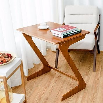 Bamboo Sofa Table TV Tray Laptop Desk