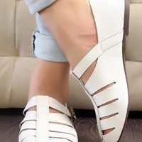 Vintage White Sandals  from sniksa