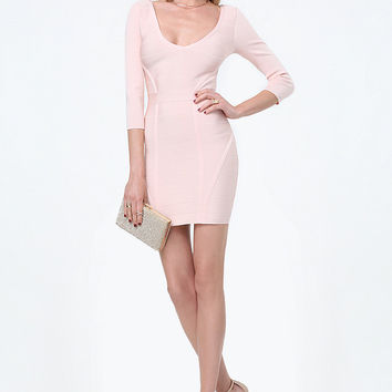 AMY DOUBLE V BANDAGE DRESS