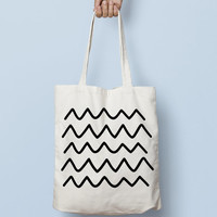 Geometric Tote Bag Hipster - Canvas Tote Bag - Printed Tote Bag - Market Bag - Cotton Tote Bag - Large Canvas Tote - Funny Tote Bag Hipster