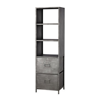 Gunther Industrial Chic Shelf Graphite