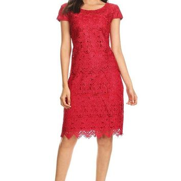 Short Lace Cocktail Dress Formal