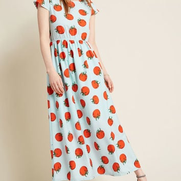 Compania Fantastica Pure Perk Maxi Dress in Tomato, Bravado