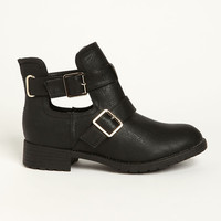 CUT OUT BUCKLE BOOTS