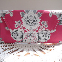 Eyeglass Clutch, Feminine Products, Coupon case, Cosmetic Case,Statuesque, Contemporary, Baroque Bouquets