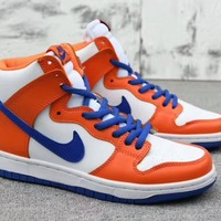 """""""Nike SB Dunk High TRD QS Danny Supa"""" Unisex Sport Casual Fashion High Help Plate Shoes Couple Sneakers"""