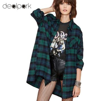 Plus Size 3XL 4XL 5XL Tops Plaid Shirts Blouses Women Tartan Shirt Long Sleeve Baggy Check Blouse Oversized female tunics