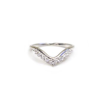 Sterling Silver Diamond Mist Ring