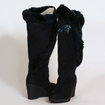 Cuce Shoes Carolina Panthers Women's Cheerleader Boots - Black - http://www.shareasale.com/m-pr.cfm?merchantID=7124&userID=1042934&productID=525384483 / Carolina Panthers