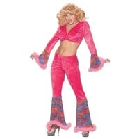 Adult 70s Disco Pink Haze Costume | Costume Collection