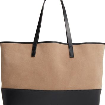 Pedro Garcia East West Suede & Leather Tote | Nordstrom
