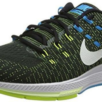 Nike Mens Air Zoom Structure 19 Running Shoes (12, Black/Volt/Blue Lagoon/White)