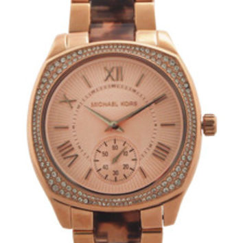 MK6276 Bryn Rose Gold-Tone and Tortoise Acetate Watch Watch Michael Kors